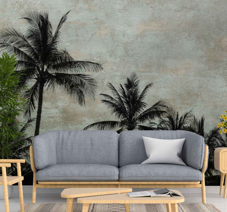 TenStickers. Aloha landscape wall mural. Decorative country theme wall mural design of a plant typical to Aloha location. Easy to apply and of high quality material.