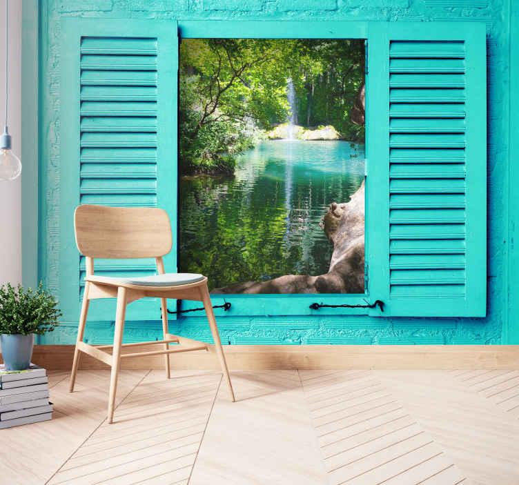 TenVinilo. Fotomural cascada paradisíaca kursunlu. Fotomural paisaje de kursunlu que te encantará en para disfrutar de unas vistas increíbles. Alta calidad ¡Envío gratuito!