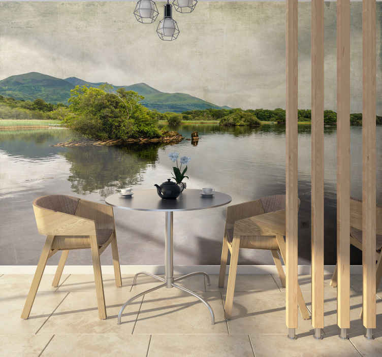 TenStickers. Co kerry, Ireland wall mural wallpaper. Decorative natural landscape view ofCo Kerry, Ireland. An easy to apply design made with the best of quality material. Available in different sizes.