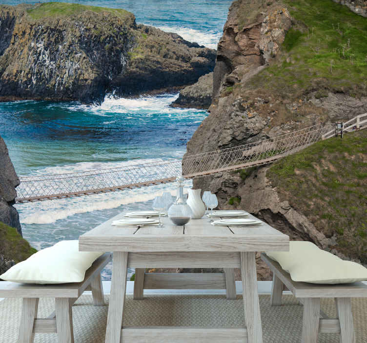 TenStickers. Coastal causeway northern Ireland wall mural wallpaper. Creative captivating and breath taking scenery on your wall space with this  Coastal causeway northern Ireland wall mural design.
