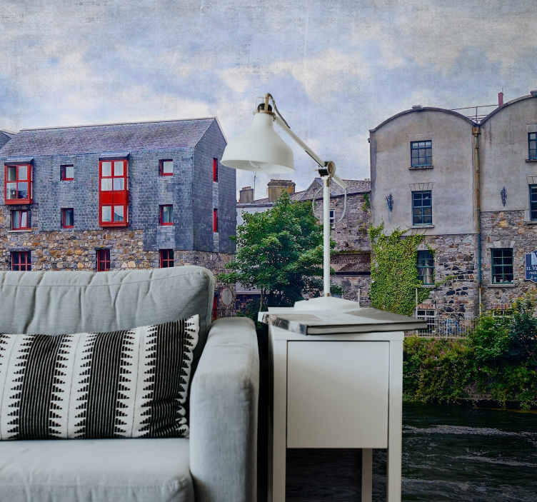 TenStickers. Galway Ireland wall mural wallpaper. Galway Ireland scenery wall mural design that you would love. It is made from the best of quality material and easy to apply.