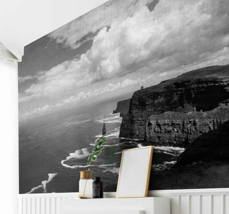 TenStickers. Cliffs of Moher wall mural wallpaper. Do you like natural landscape? if yes! then you would love this amazing cliff of Moher Ireland wall mural. Easy to apply and of high quality.