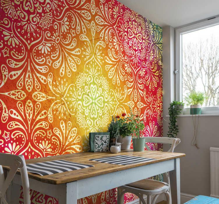 TenStickers. Renkli zen duvar kağıdı. Bu fantastik, renkli, canlı zen duvar duvar resmine göz atın. Bu duvar kağıdı ile odanızda ve evinizde eğlenceli ama sakinleştirici bir atmosfer yaratın!