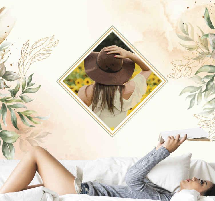 Tenstickers. Maalaa valokuvasi seinä valokuvatapetti. Voit mukauttaa tämän kukkakuvioisen seinämaalauksen mille tahansa valitsemallesi valokuvalle. Se on alkuperäinen, kestävä ja helppo levittää.