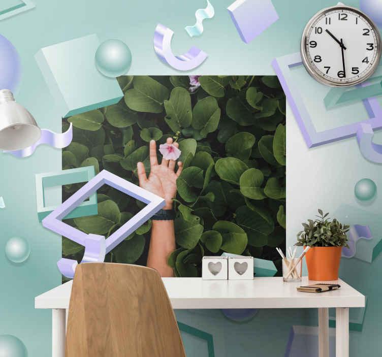 TenStickers. Photo murale Effet 3d avec photo. stickers photo à effet visuel qui non seulement donnerait de la profondeur et de la couleur à votre espace, mais le ferait également paraître plus grand. Il est durable et étanche.