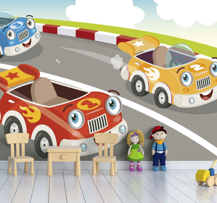 TenStickers. Disney cars world Grand Prix Children Wall Murals. An amazing cartoon car wall mural for children that your little one will adore! Over 10,000 satisfied customers, you are in safe hands.