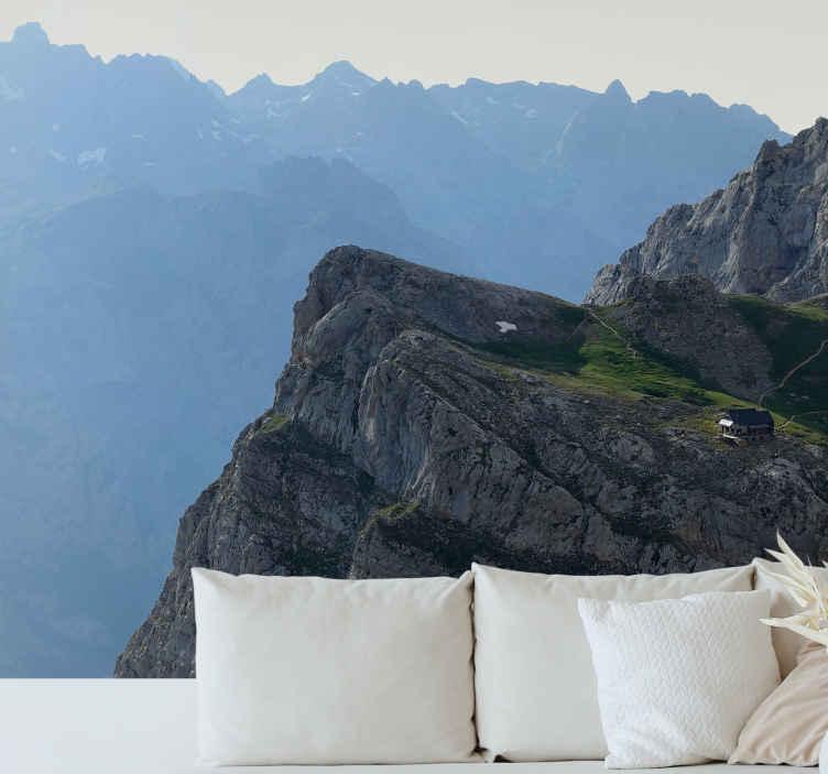 TenStickers. Na pečini in gorah gorski freski. Ste pustolovski in radi živite na robu? Ali ga želite obdržati nekoliko varnejšega? V svojo dnevno sobo vnesite miselnost 'živeti na robu'!