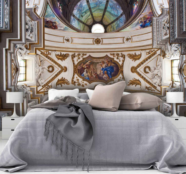 TenStickers. Umjetničko remek-djelo starinski mural. Ovaj ukrasni strašan vintage umjetnički zidni proizvod ima vrlo jedinstven i hladan dizajn koji će vašoj kući zasigurno dati više energije! Naručite ovo odmah!