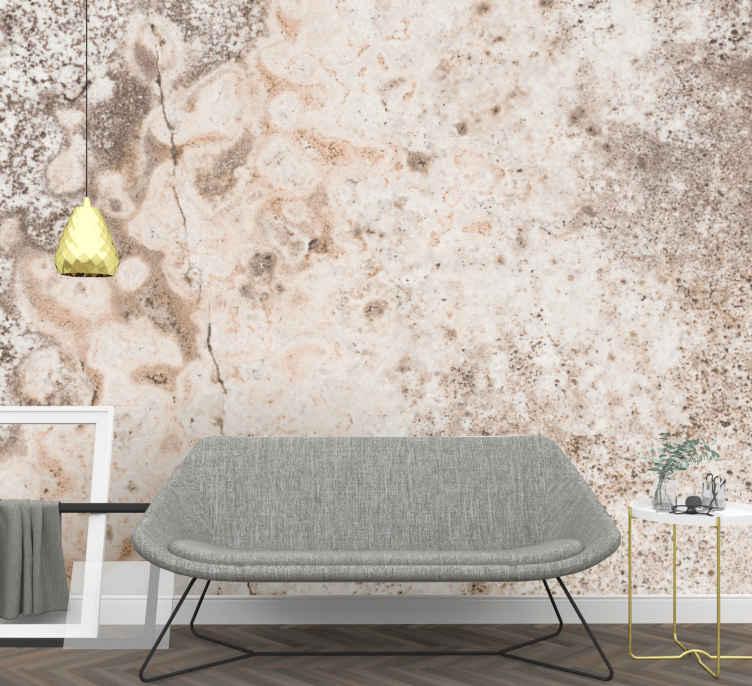3d Irregular Brown And Grey Wall Mural Tenstickers