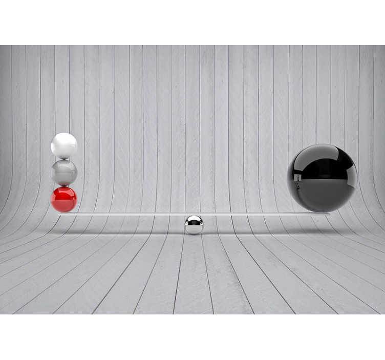 TENSTICKERS. バランス3d壁画壁紙. ユニークな3d壁壁画を探しているなら、おそらく最もユニークなデザインを見つけたので、検索を止めてください!