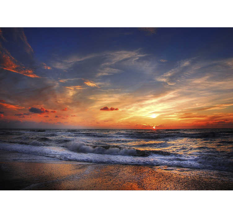 TenStickers. Punta Cana beach sea wall mural. What could be more stunning than a sunset over a beach in Punta Cana? This beach wall mural is exactly what you need in your home