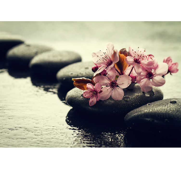 TenStickers. Serenity of nature zen photo wallpaper. If you are looking to create a peaceful atmosphere in your home or buisiness then look no further. This zen wall mural is perfect for you!