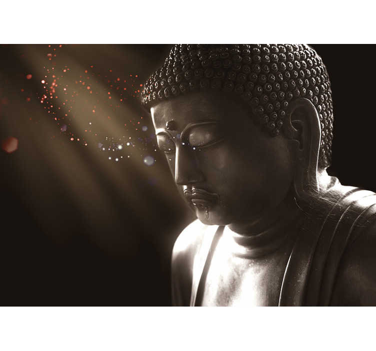 TenStickers. Meditating buddha Buddha Wall Mural. Get into the zone with this superb meditating buddha wall mural.  Designed to instill peace  within, this beautiful image will be perfect in bedrooms!