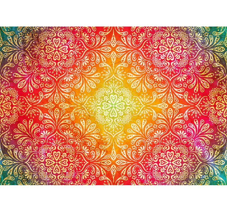 TenStickers. Colourful  zen wallpaper. Check out this fantastic, colourful, lively zen wall mural. Create a fun yet calming atmosphere in your room and home with this wallpaper!