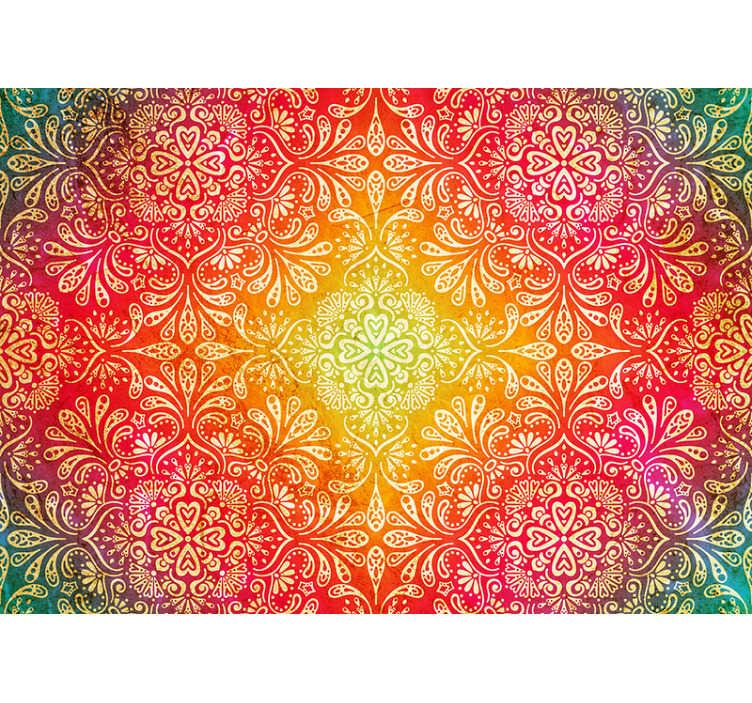Tenstickers. Fargerikt zen bakgrunnsbilde. Sjekk ut dette fantastiske, fargerike, livlige zen-veggmaleriet. Skape en morsom, men likevel beroligende atmosfære på rommet ditt og hjemme med dette tapetet!