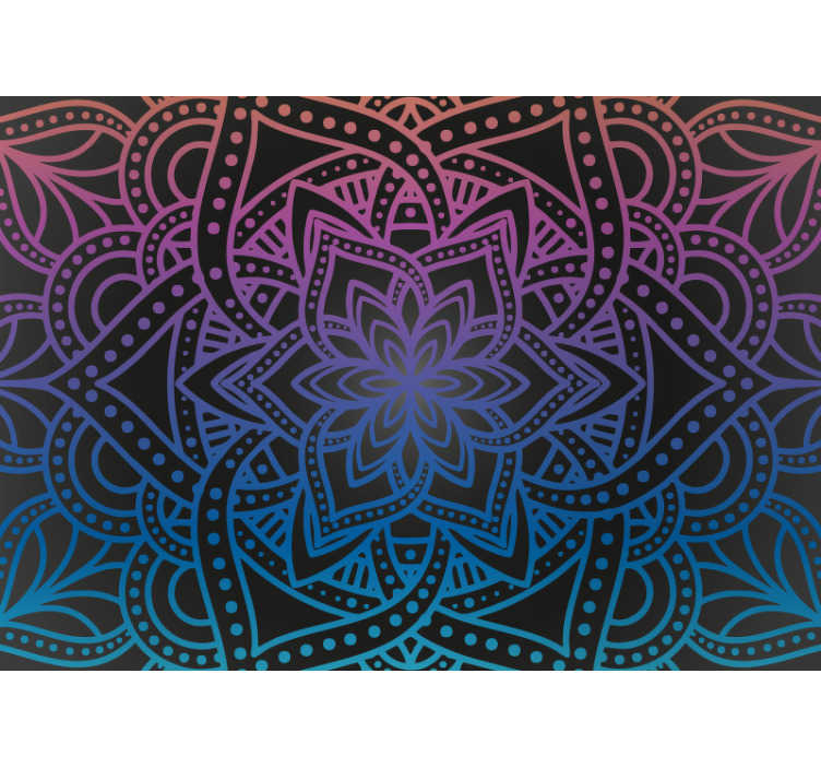 TenStickers. Calming floral zen wall mural. And breathe. This zen wall mural design makes us here at TenStickers feel so relaxed and peaceful, as if we are drifting on a cloud through the sky