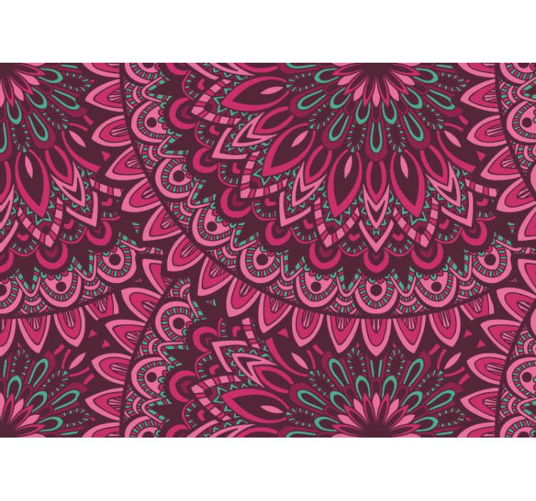 TenStickers. цветочная роспись. превратите любую комнату в вашем доме в место полного дзен с этой красивой цветочной росписью мандалы. доставка по всему миру доступна!