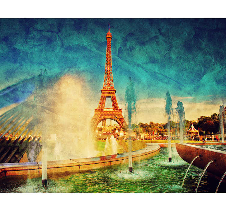 TenStickers. Eiffel tower views City wall mural. J'adore Paris! If you have an adoration for this famous landmark in this city of love then this Paris wall mural is right up your alley!