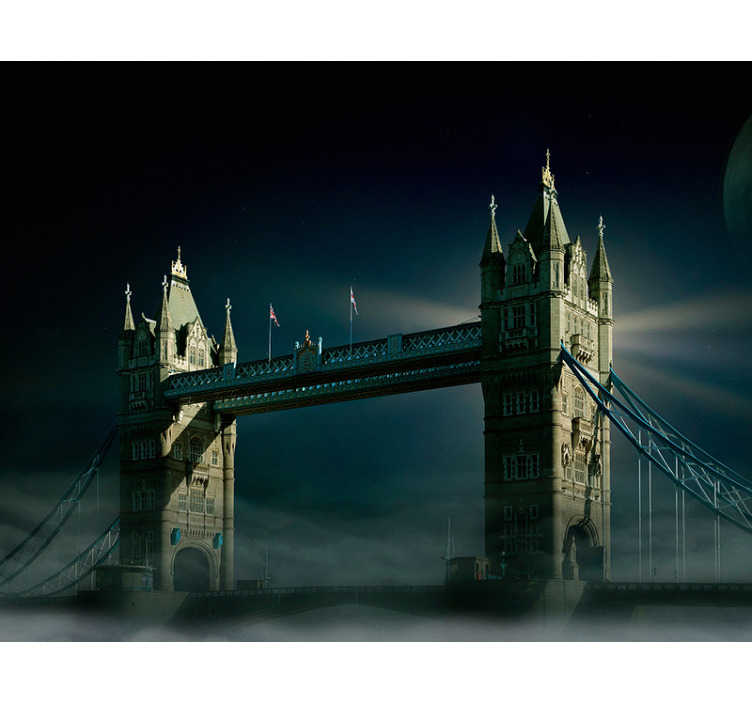 TenStickers. London bridge by night City wall mural. London bridge is prehaps one of the most well know bridges, so it's only right that we showed it in all its glory with this stunning London wall mural