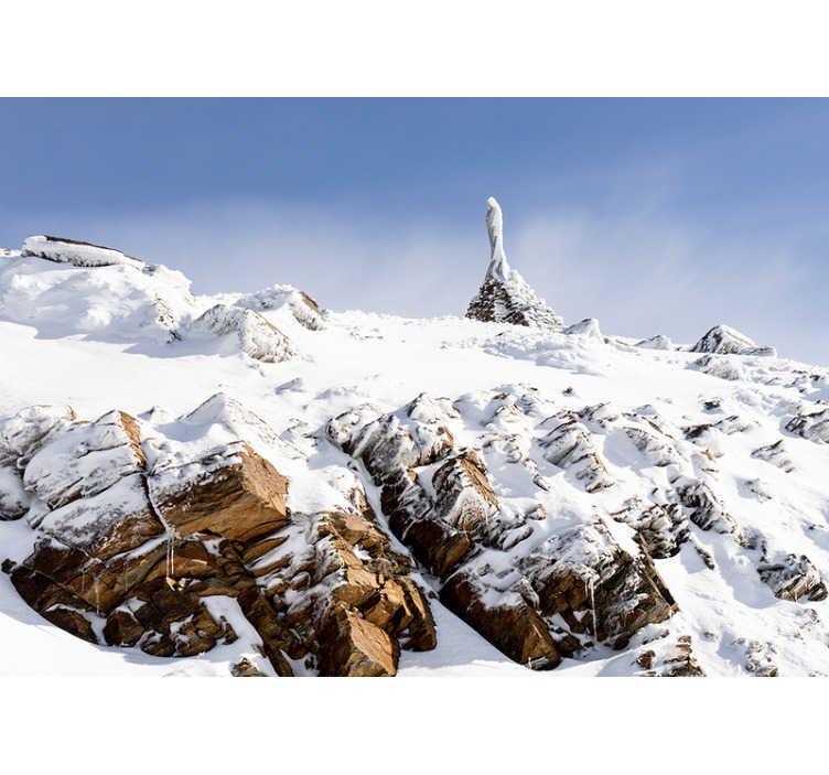 TenVinilo. Fotomural montaña vistas Sierra Nevada. Fantástico fotomural online de naturaleza con las montañas de Sierra Nevada cubiertas de nieve para que decores tus paredes de forma exclusiva
