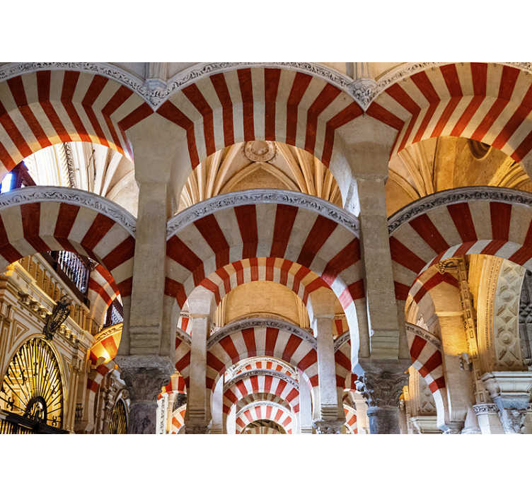 TenStickers. Mezquita de Cordoba mural wallpaper. Incredible 3D photo mural city of the mosque of Cordoba with which you can decorate your house now with this incredible design.