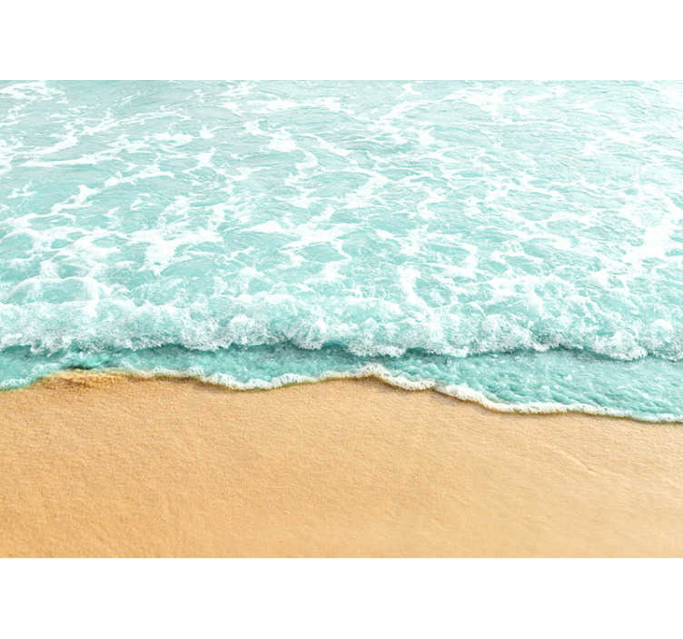 TenStickers. Papier peint paysage 3d vagues de l'océan. Vous ne vivez pas près de la plage mais aimez la mer? Cette murale décorative est exactement ce dont vous avez besoin pour décorer vos murs!