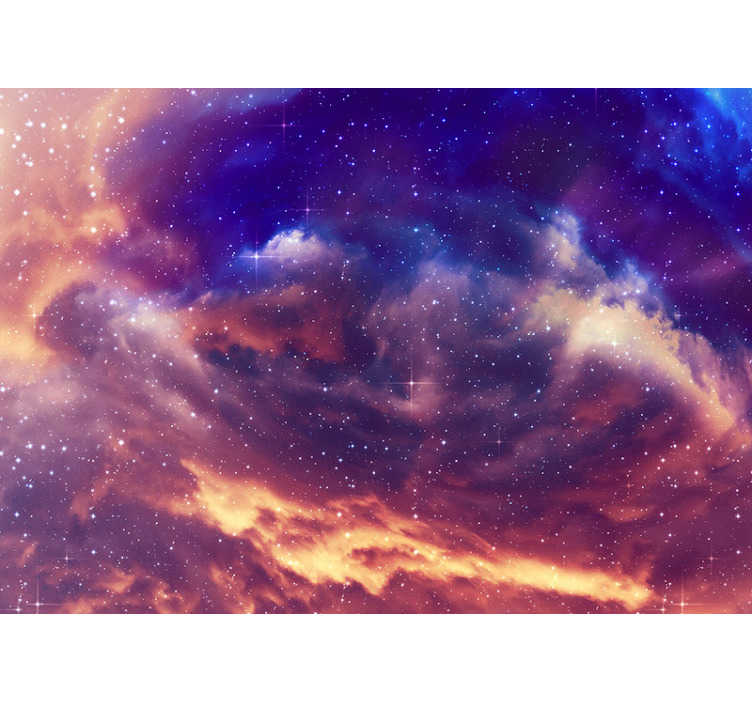 TenStickers. 3d Night sky wall mural. You are looking at the perfect decoration for your bedroom or any other room that you like. This sky photo mural with dramatic colors is a great!