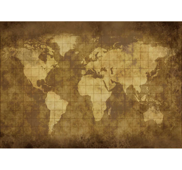 TenStickers. Wall mural vintage world map for kids. Let your children discover the world with this vintage map wall mural. Great way to decorate their rooms in the way they will love it!