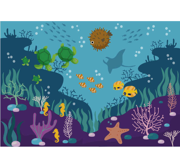 TenStickers. Animal wall mural fish in the water. Let your children feel like fish in the water in their rooms by decorating them with this aquatic wall mural. Vivid colours!