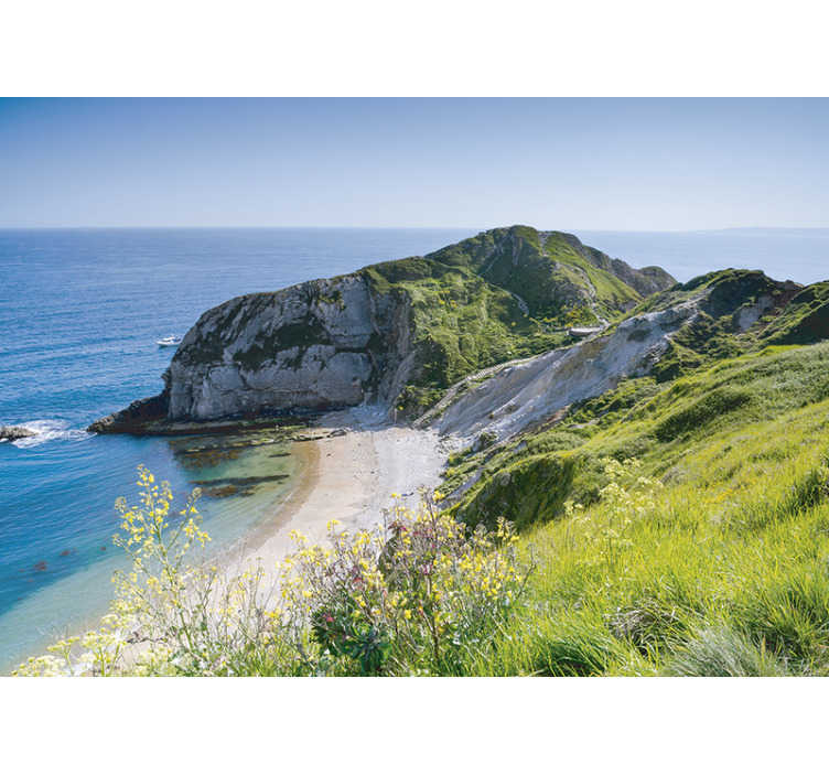 TenStickers. Nature wall mural Dorset coast. Order this scenery photo mural and enjoy those famous and spectacular cliffs in your bedroom or living room. Forget about boring and white walls.