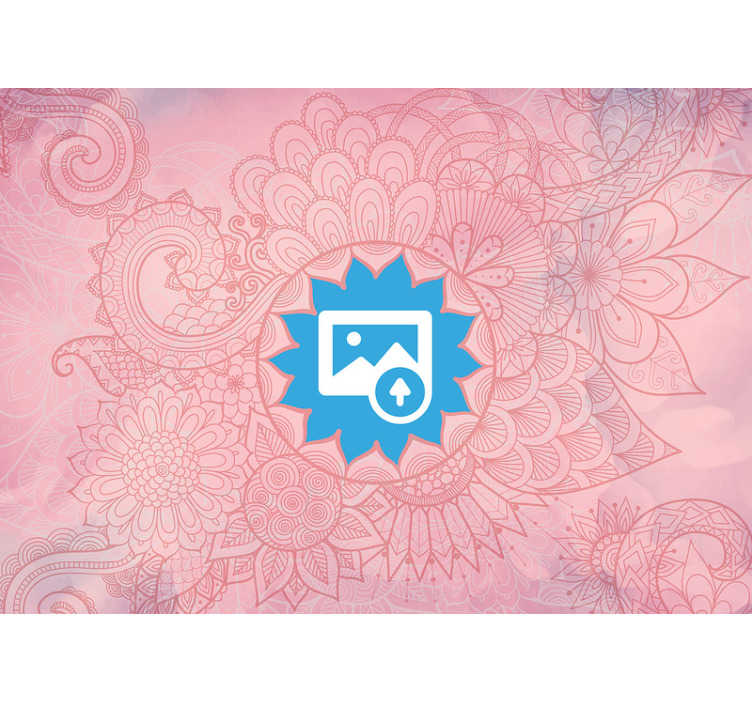 TenStickers. Pink mandala zen photo wallpaper. This calming pink coloured photo wallpaper is everything you want in your house! Find your inner peace back with this wonderful wall mural.