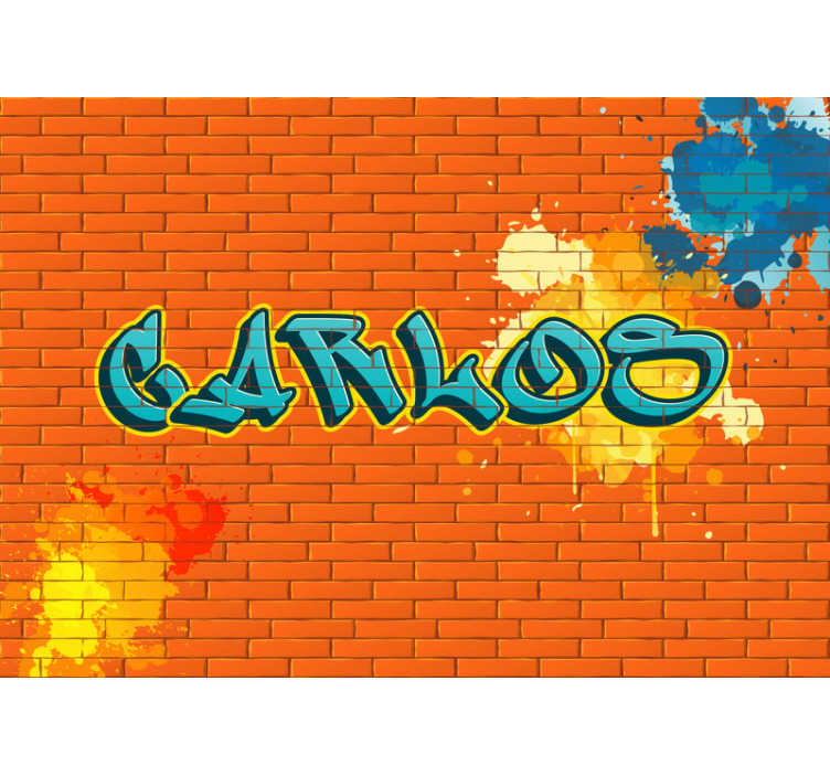 TenStickers. Personalised  Art Wall Mural. Tough art wallpaper photo with personalised name. Make your child happy with this urban decor, which is very easy to apply.