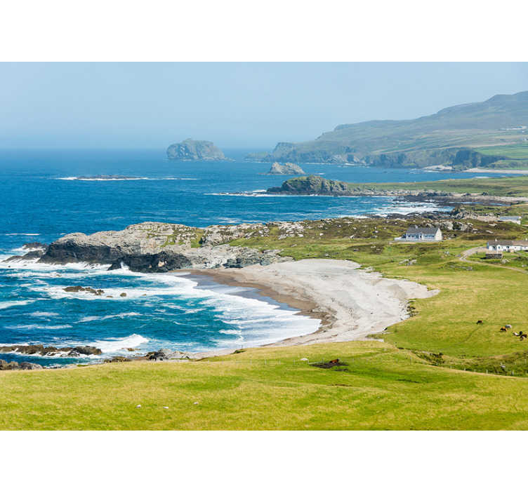 TenStickers. Malin head Ireland landscape wall mural. Place this in your room on a wall where rest is very important for you, and enjoy your relaxation without having to move to this area!