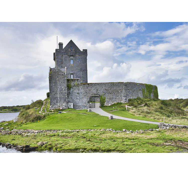TenStickers. Old irish dunguaire castle Wall Murals for Bedrooms. Do you like Ireland? But are you interested in the history that can be found there?  Then we will like to offer you this beautiful wallpaper!