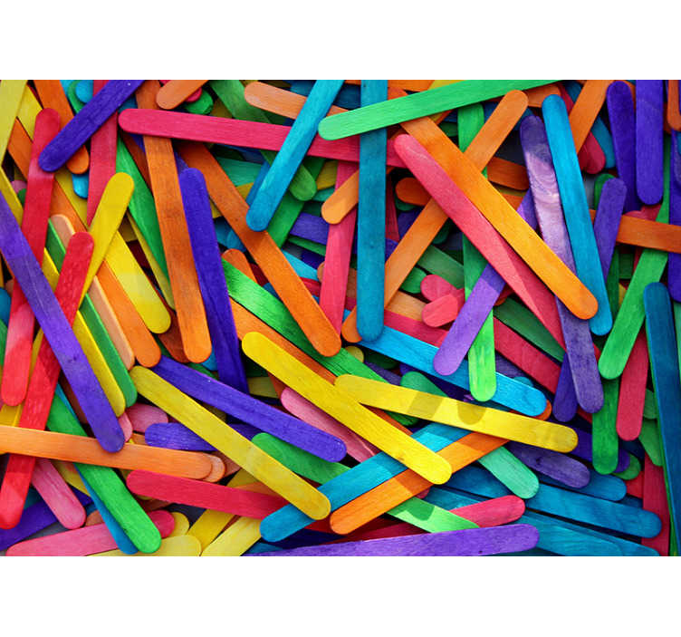 TenStickers. Rainbow Sticks Wall Murals for Bedrooms. A nice colorful wall mural for children's to place in your children's room. Make your home better with this beautiful design.