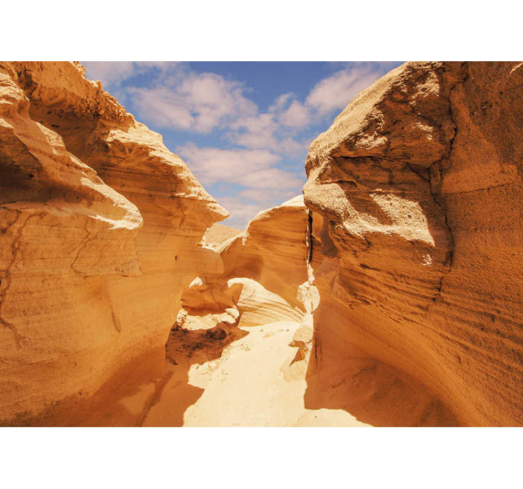 TenStickers. Desert Wall Mural American Brown Rock. American desert wall mural is a quick and cheap way to redecorate your room. High quality image in vivid colours, no pixels!