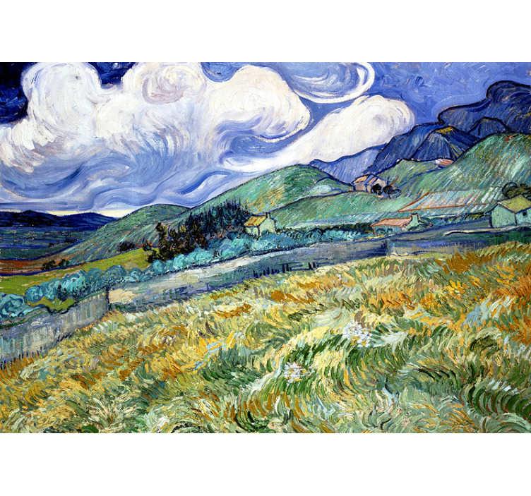 TenStickers. Mural de parede artístico Íris de Van Gogh. Todo amante de arte deve ter um mural de parede artístico como este! Extraordinária obra de arte de Van Gogh. Fácil de aplicar.