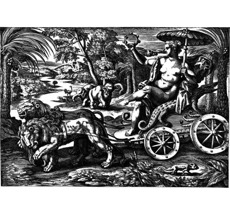 TenStickers. Carta da parati vintage con foto della giungla. Insolito murale di arte classica con una giungla vintage piena di diversi tipi di animali. Scegli la misura che desideri e goditi la consegna gratuita oggi!