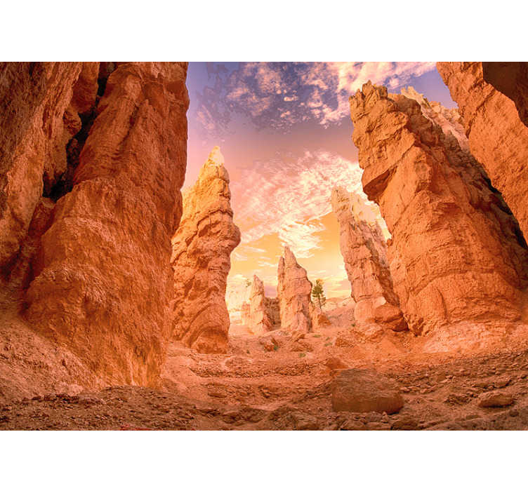 TenStickers. Rose Canyon wall mural. Admire the world every day when looking at your new landscape wall mural that presents othe beauty of  Rose Canyon. Free delivery!