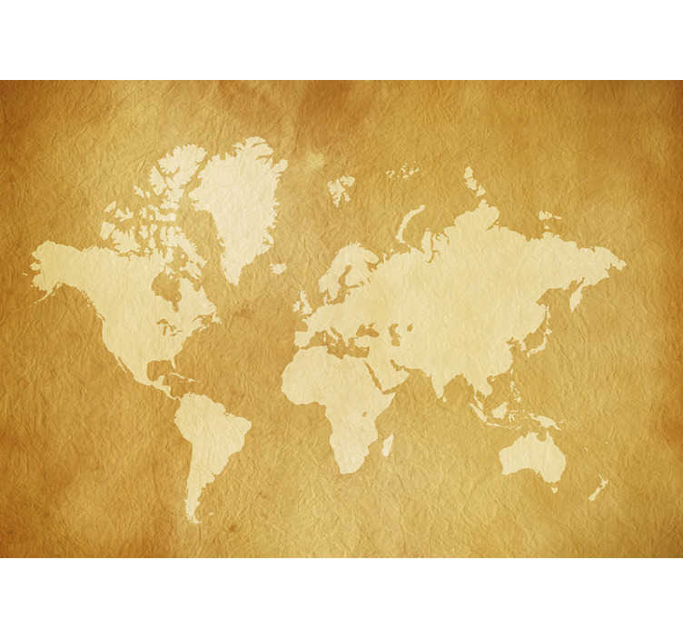TenStickers. World map vintage wall mural. Have a look at this vintage wall witha a high quality image of the world map. Perfect as your bedroom or living room decoration. Free delivery!