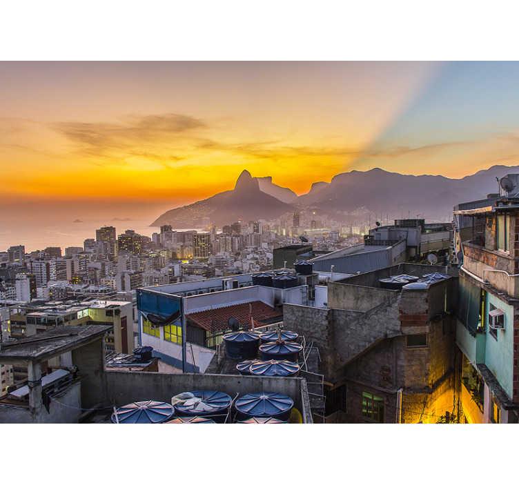 TenStickers. Fotomural decorativo Através de São Paulo . Aproveite a sensação de caminhar por São Paulo com este mural de parede decorativo de de cidades. Produto de alta qualidade e entrega gratuita!