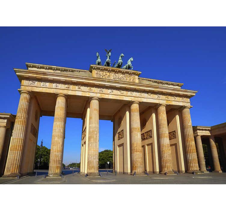 TenStickers. Fototapete Städte und Länder Brandenburger Tor. Verlieben Sie sich in diese schöne Architektur - Brandenburger Tor gemalt auf Ihrer Stadt Fototapete. Hochwertiges realistisches Bild!