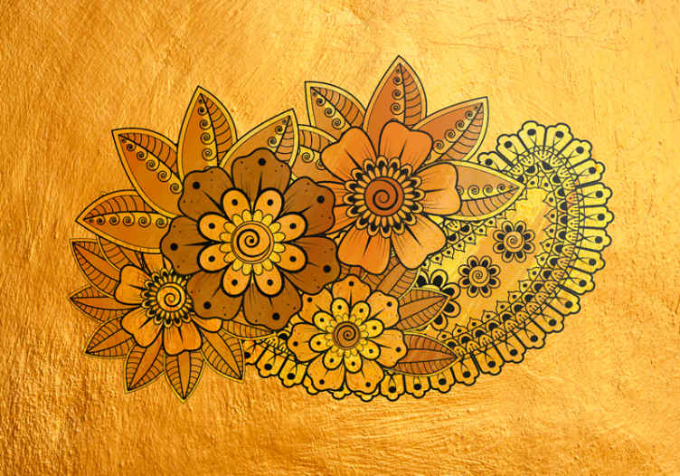 TenStickers. Paisley Indian style flower mural. Floral pattern wall mural decoration for you home and office space. It is easy to apply and it is available in different sizes.