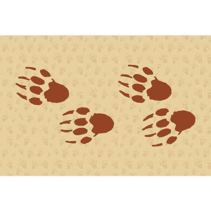 TenVinilo. Fotomural niños huellas de erizos. Un fotomural animales con diseño decorativo de huellas de erizos con fondo marrón estampado borrosa ¡Envío gratuito!