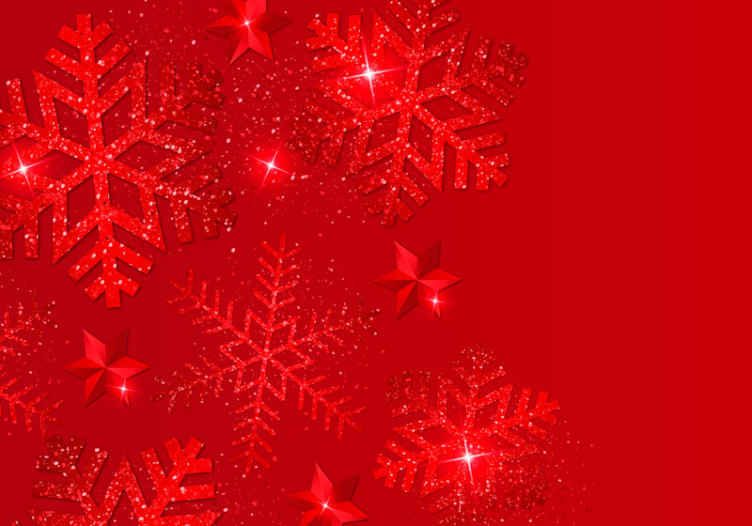 TenStickers. Red snowflakes wall mural. You don't want to be left out with Christmas home decoration touch. We have an amazing red snowflakes Christmas wallpaper sticker design for you.