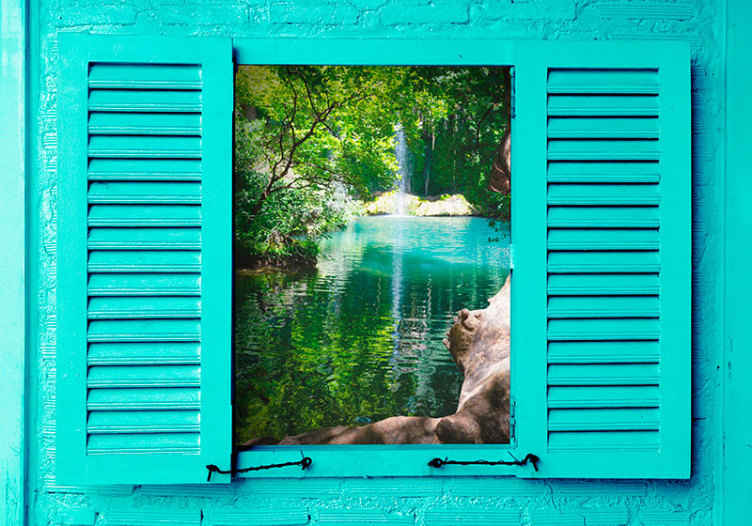 TenStickers. Kursunlu waterfalls landscape wall mural. Kursunlu waterfall landscape wall muraldesign. An amazing landscape design you would love on any space. Easy to apply and of high quality.