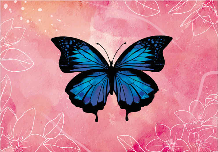 TenStickers. Beautiful and Colorful butterfly murals. Beautiful butterflies wall mural to change the space of a room in an original way. The design would help you get the fairy butterfly fantasy you want.