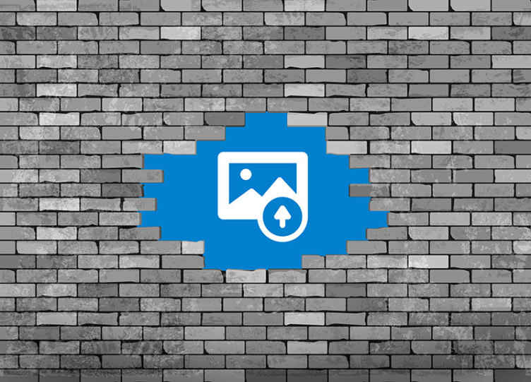 TenStickers. Broken bricks with photo custom murals. Broken bricks with cityscape photo wall mural to decorate your home or office with a breath taking look. It is original, durable and easy to apply.