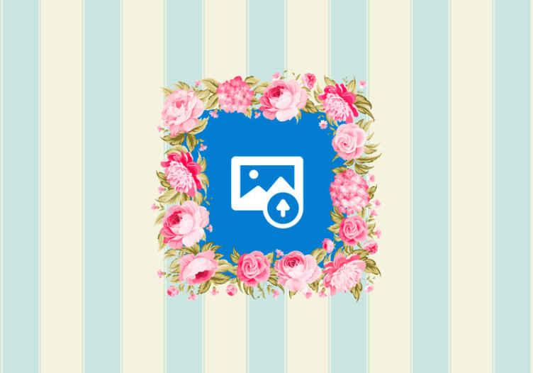 TenVinilo. Fotomural moderno rayas azules con foto propia. Personalice su propia imagen en este fotomural para habitación matrimonio. Puede poner la imagen que desee ¡Envío gratuito!