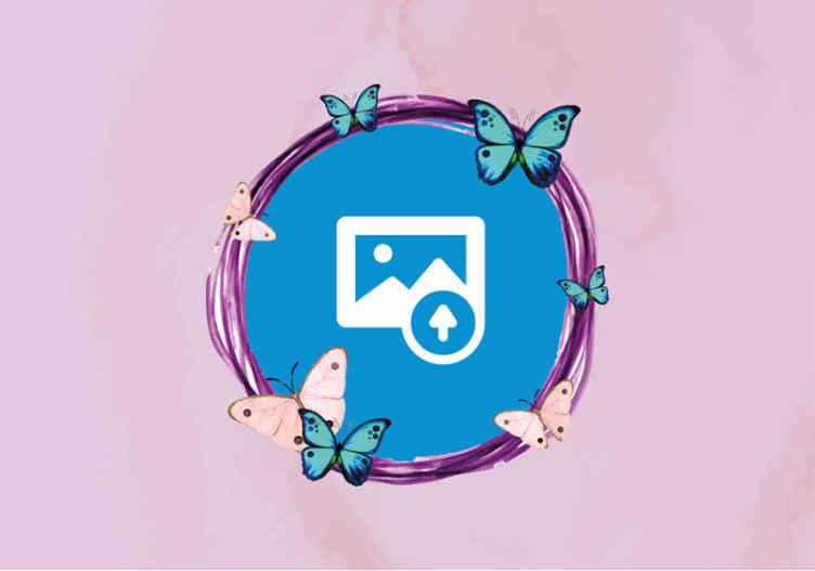 TENSTICKERS. 写真のカスタム壁画とカラフルな蝶. 美しいピンクの背景とカラフルな蝶を使ったカスタムフォトウォール壁画は、お部屋に新しい外観を作り出すこと間違いなしです!今すぐ注文してください!